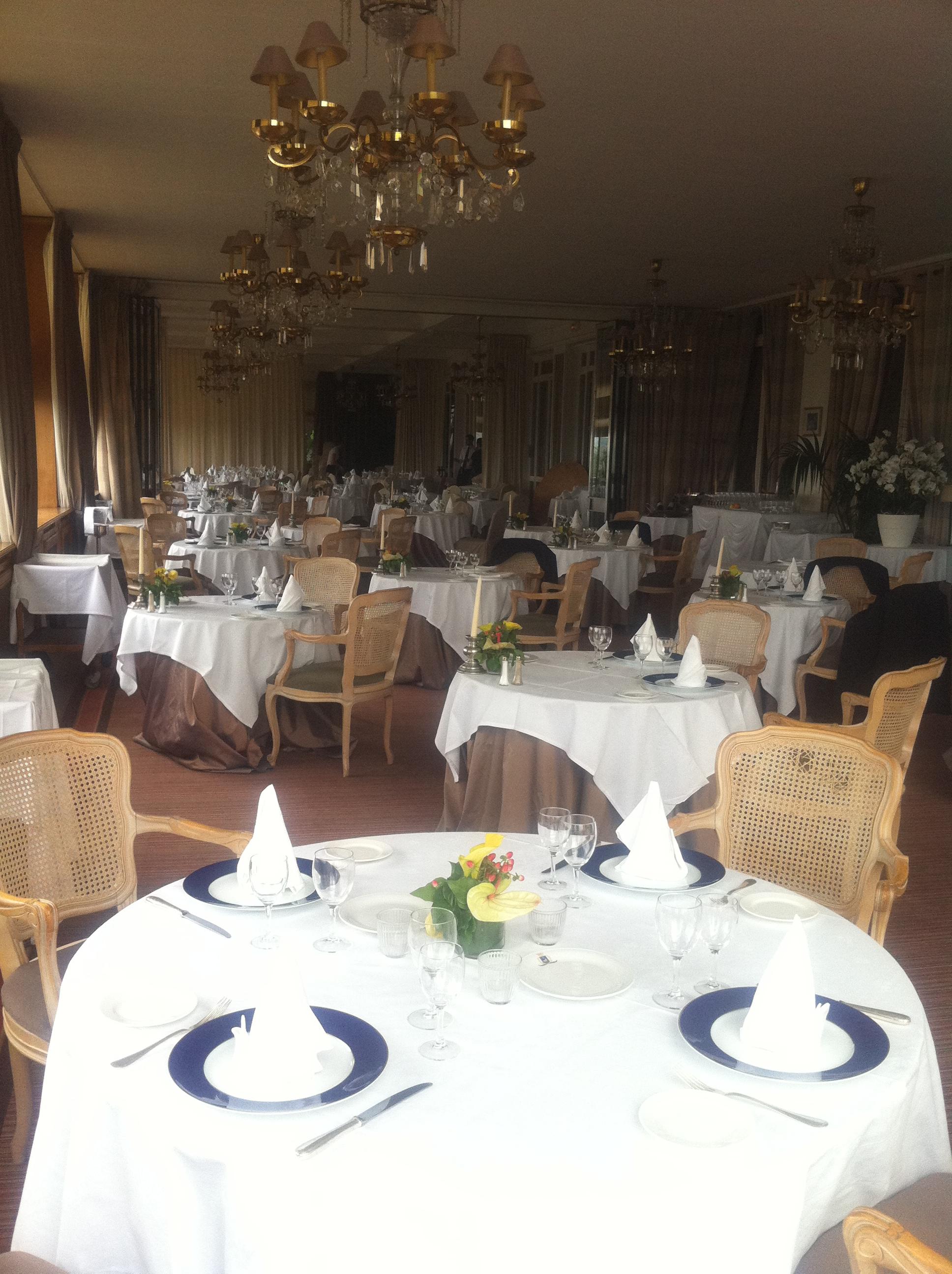 Salle de restaurant du Pavillon Herni IV