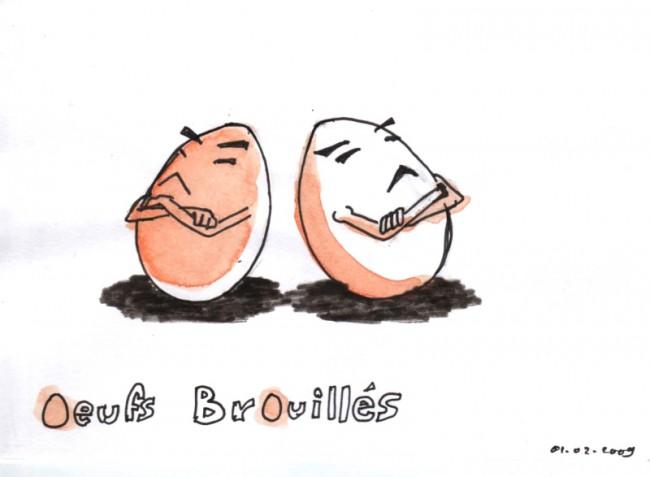 oeufs brouilles