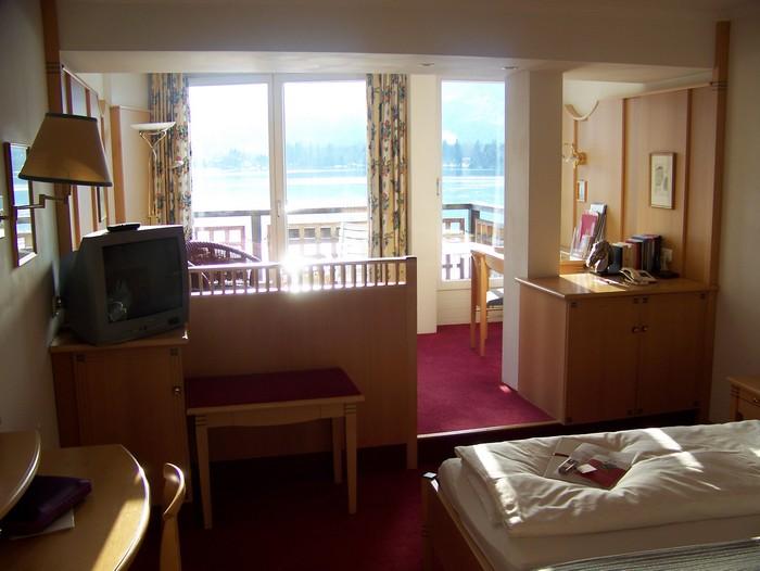 Une chambre standart avec vue sur le lac